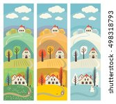 set of banners with the rural... | Shutterstock .eps vector #498318793