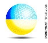 ukraine flag illustration. 3d...