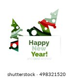 christmas and new year... | Shutterstock .eps vector #498321520