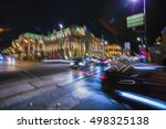 abstract blur city night... | Shutterstock . vector #498325138