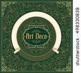 ornate decorative vintage design | Shutterstock .eps vector #498330838