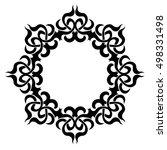 tattoo. stencil. pattern.... | Shutterstock .eps vector #498331498