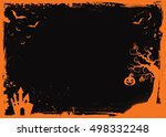 halloween element with border... | Shutterstock .eps vector #498332248