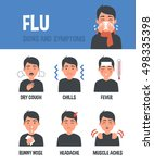 flu vector infographic. flu... | Shutterstock .eps vector #498335398