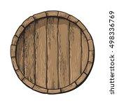 Top View Of Wooden Barrel ...
