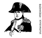 napoleon bonaparte.black and... | Shutterstock .eps vector #498344098