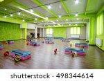 interior of a modern fitness... | Shutterstock . vector #498344614