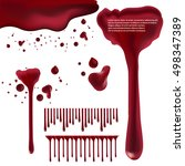 dripping blood isolated on... | Shutterstock .eps vector #498347389