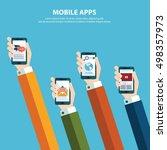concept for mobile apps  flat... | Shutterstock .eps vector #498357973