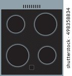ceramic cooker surface.... | Shutterstock .eps vector #498358834