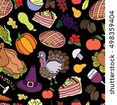 thanksgiving vector seamless...   Shutterstock .eps vector #498359404