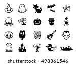 set of halloween icons | Shutterstock .eps vector #498361546