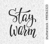 winter cold lettering....   Shutterstock .eps vector #498362323