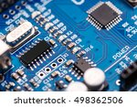 microchip integrated on... | Shutterstock . vector #498362506