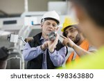 supervisor and manual worker... | Shutterstock . vector #498363880