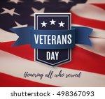 veterans day background...   Shutterstock .eps vector #498367093