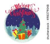 vector christmas card. merry... | Shutterstock .eps vector #498379048
