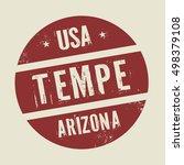 grunge vintage round stamp with ... | Shutterstock .eps vector #498379108