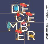 december month typographic... | Shutterstock .eps vector #498383794