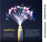 optic fibers vector background... | Shutterstock .eps vector #498394534