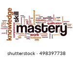 mastery word cloud concept | Shutterstock . vector #498397738