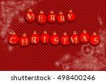3d illustration  christmas... | Shutterstock . vector #498400246
