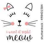 Stock vector cat graphic 498401584
