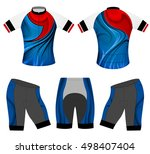 sports t shirt vector cycling... | Shutterstock .eps vector #498407404