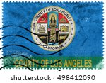 flag of los angeles county ... | Shutterstock . vector #498412090