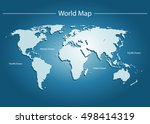 blue world map vector | Shutterstock .eps vector #498414319