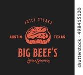 big beef steak house retro...   Shutterstock .eps vector #498415120