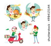 vector illustration set of... | Shutterstock .eps vector #498415144
