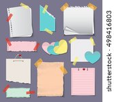 paper banners and notes icons...   Shutterstock .eps vector #498416803