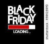 black friday  loading bar ... | Shutterstock .eps vector #498419890