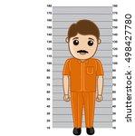 criminal measuring height | Shutterstock .eps vector #498427780