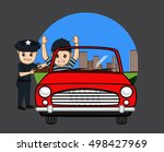 police arrested a car thief | Shutterstock .eps vector #498427969