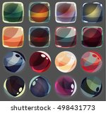 colorful glossy shapes icons...