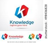 k letter logo template design... | Shutterstock .eps vector #498436828