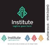 abstract logo template design... | Shutterstock .eps vector #498436840