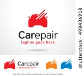 car repair logo template design ... | Shutterstock .eps vector #498436918