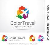 travel logo template design... | Shutterstock .eps vector #498437008