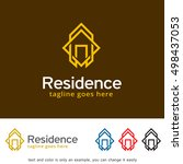 abstract house logo  real...   Shutterstock .eps vector #498437053
