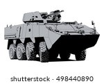 armored personnel carrier | Shutterstock .eps vector #498440890