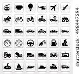 transportation icons | Shutterstock .eps vector #498447394