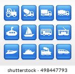 transportation icons | Shutterstock .eps vector #498447793