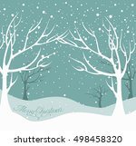 christmas background. snow... | Shutterstock .eps vector #498458320