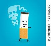 vector flat design cartoon... | Shutterstock .eps vector #498460780