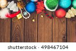 greeting  christmas decoration...   Shutterstock . vector #498467104