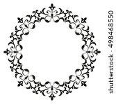 decorative line art frames for... | Shutterstock .eps vector #498468550