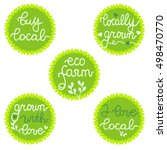 buy local  locally grown  eco... | Shutterstock .eps vector #498470770